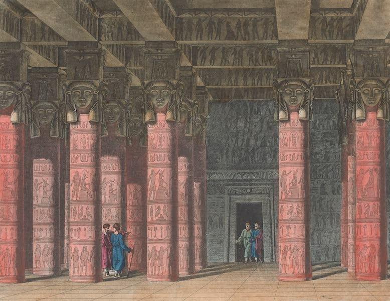 Le Costume Ancien et Moderne [Afrique] Vol. 1 - L'interieur du temple de Tentyre (1815)
