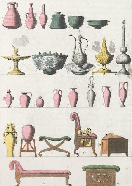 Le Costume Ancien et Moderne [Afrique] Vol. 1 - Vases etc (1815)