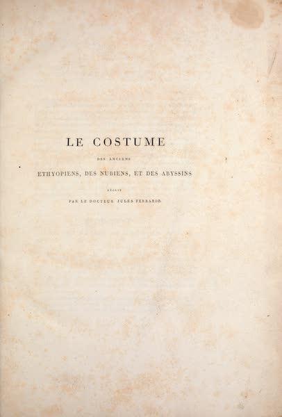 Le Costume Ancien et Moderne [Afrique] Vol. 2 - Title Page (1819)
