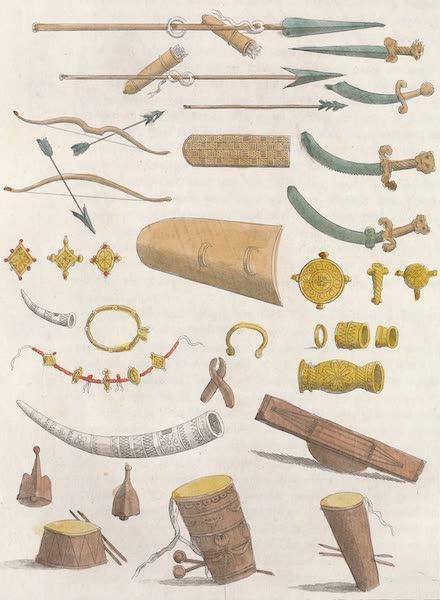 Le Costume Ancien et Moderne [Afrique] Vol. 2 - Armes etc des Negres de la Cote d'Or (1819)