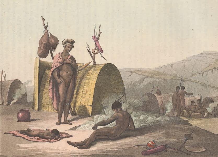 Le Costume Ancien et Moderne [Afrique] Vol. 2 - Troupe de Boschismans occupes a faire cuire des sauterelles (1819)