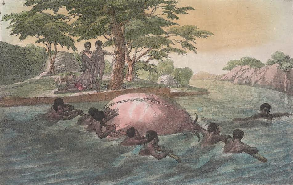 Le Costume Ancien et Moderne [Afrique] Vol. 2 - Les Gringyriens qui traversent le fleuve Zebee (1819)
