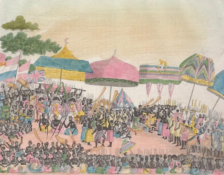 Le Costume Ancien et Moderne [Afrique] Vol. 2 - De guelle maniere l'ambassade Anglaise fut recue du Roi [I] (1819)