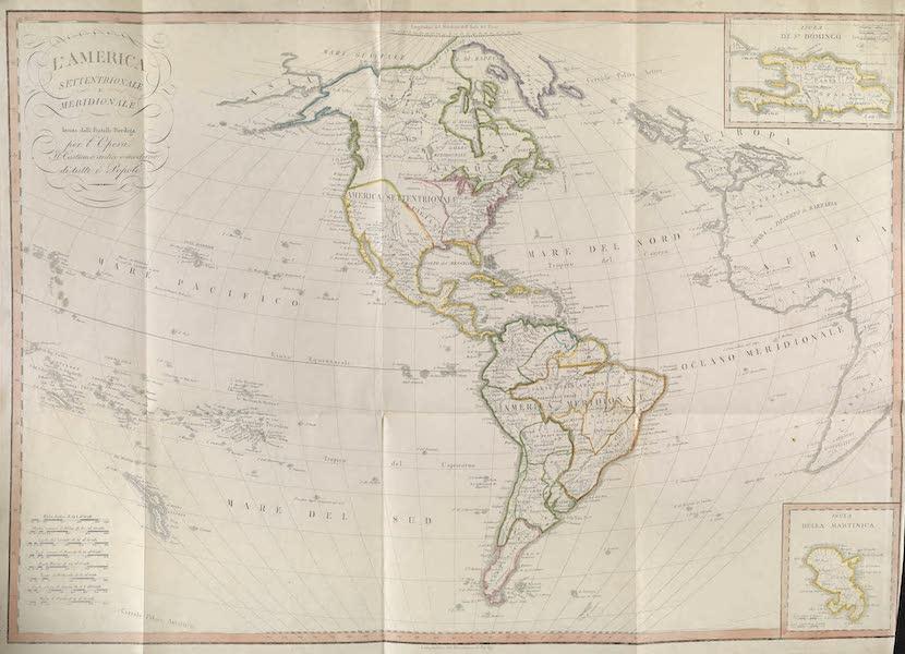 Carte geografique de L'Amerique