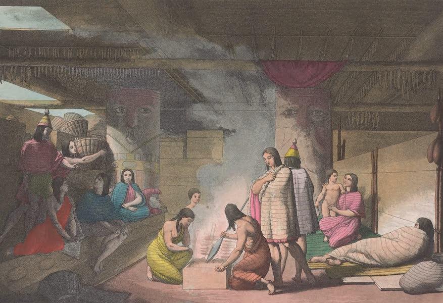 Vue interieure et exterieurs des habitations de Noutka [II]