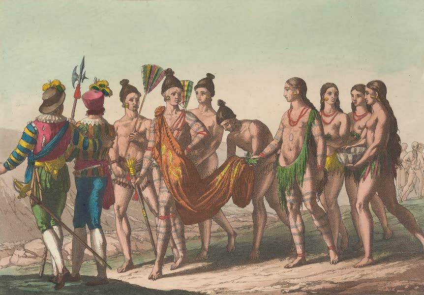Regolo ou Cacique accompagne de ses femmes