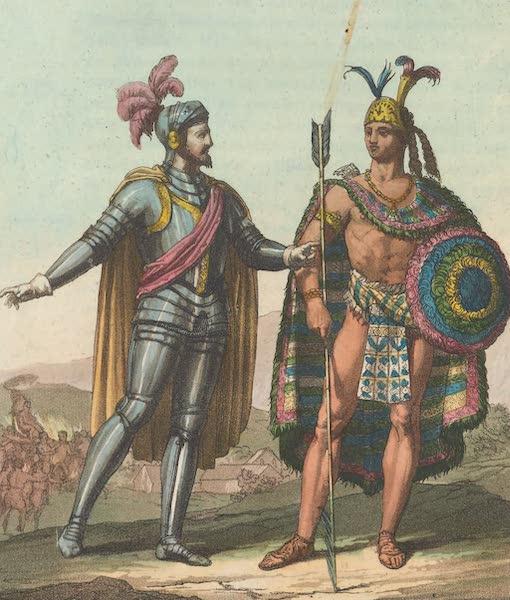 Portrait de Motezuma II et de Cortes