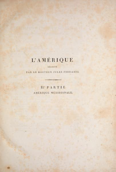 Le Costume Ancien et Moderne [Amerique] Vol. 2 - Title Page (1821)