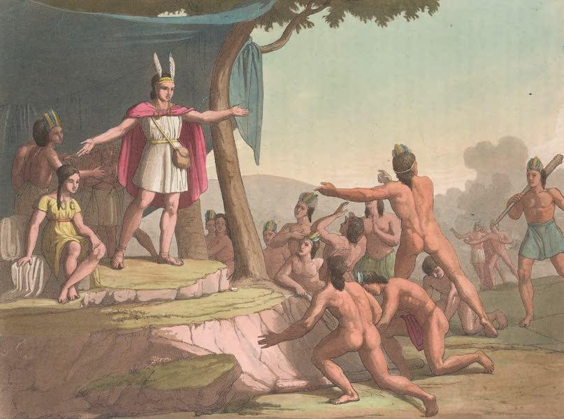 Le Costume Ancien et Moderne [Amerique] Vol. 2 - Manco Capac et la Reine Coya-Mama-Oello rassemblent les sauvages (1821)
