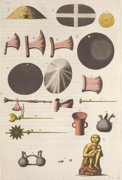 Le Costume Ancien et Moderne [Amerique] Vol. 2 - Ustensiles des anciens Peruviens trouves dans leurs tombeaux (1821)