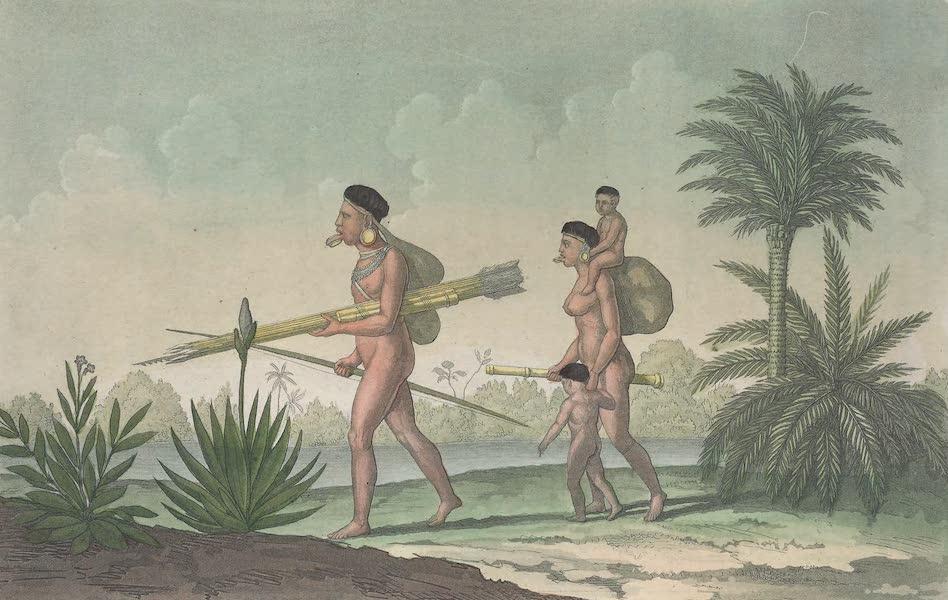 Le Costume Ancien et Moderne [Amerique] Vol. 2 - Kerengnatnuck chef des Botocudos avec sa famille (1821)