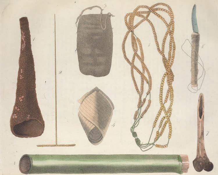 Le Costume Ancien et Moderne [Amerique] Vol. 2 - Ustensiles des Botocudos (1821)