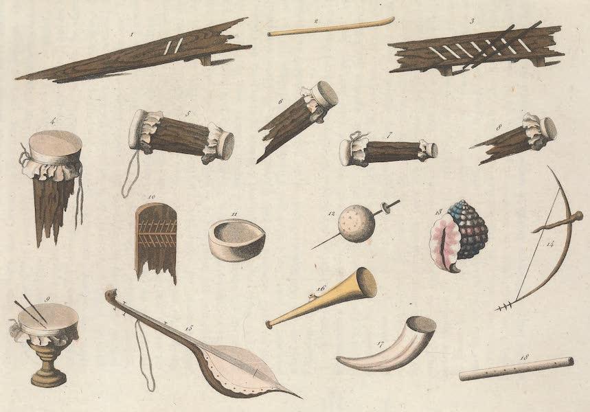 Le Costume Ancien et Moderne [Amerique] Vol. 2 - Leurs instrumens de musique (1821)