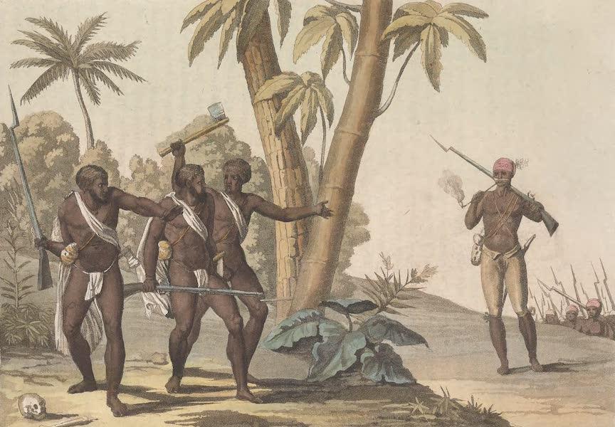 Le Costume Ancien et Moderne [Amerique] Vol. 2 - Chasseurs Negres affranchis a la poursuite des rebelles (1821)