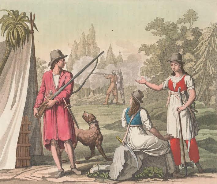 Le Costume Ancien et Moderne [Amerique] Vol. 2 - Boucaniers, et femmes Flibustieres (1821)