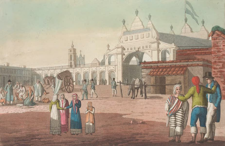Le Costume Ancien et Moderne [Amerique] Vol. 2 - La grande place de Buenos-Ayres (1821)