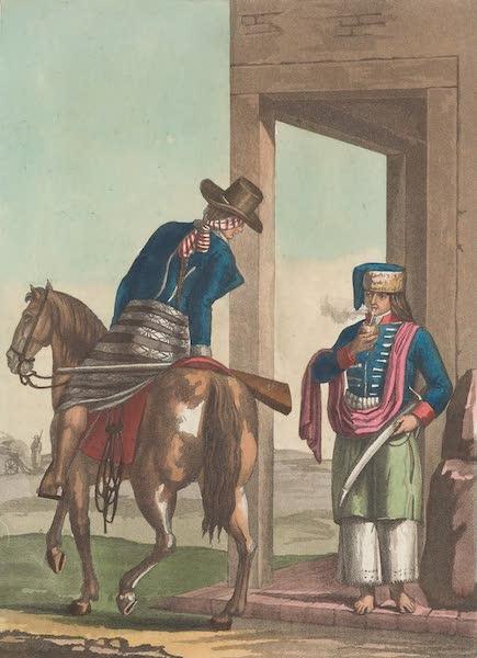 Le Costume Ancien et Moderne [Amerique] Vol. 2 - Soldats de la plage orientale de la Plata (1821)