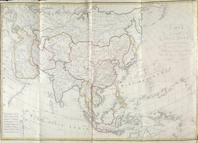 Le Costume Ancien et Moderne [Asie] Vol. 1 - Carte generale de l'Asie (1815)