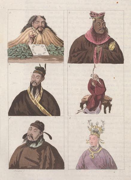 Le Costume Ancien et Moderne [Asie] Vol. 1 - Portraits des Empereurs et d'hommes celebres (1815)