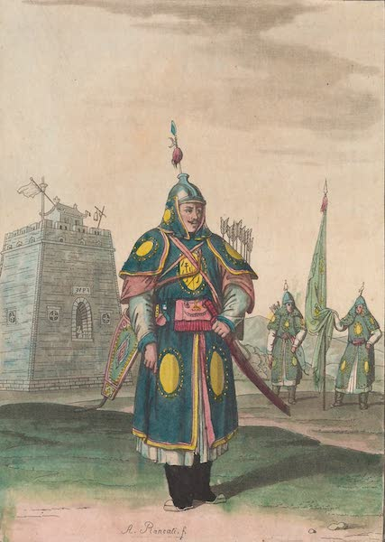 Le Costume Ancien et Moderne [Asie] Vol. 1 - Soldat en uniforme complet (1815)