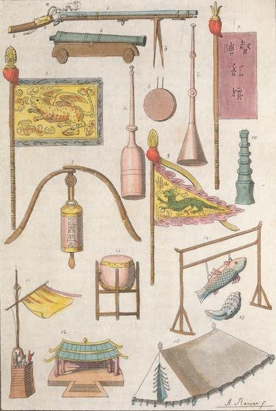 Le Costume Ancien et Moderne [Asie] Vol. 1 - Etendards, tentes, etc (1815)