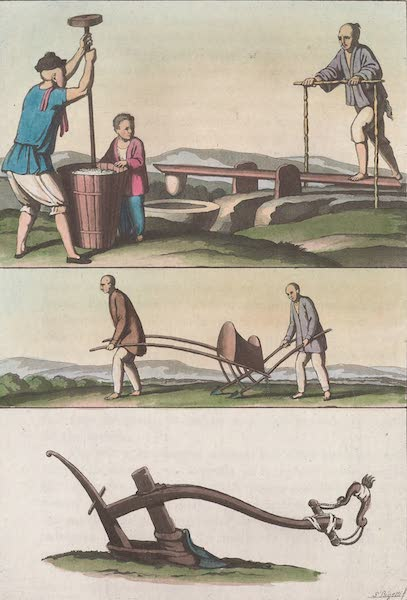 Le Costume Ancien et Moderne [Asie] Vol. 1 - Charrue, semoir (1815)