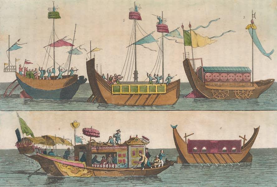 Le Costume Ancien et Moderne [Asie] Vol. 1 - Vaisseaux de guerre etc (1815)