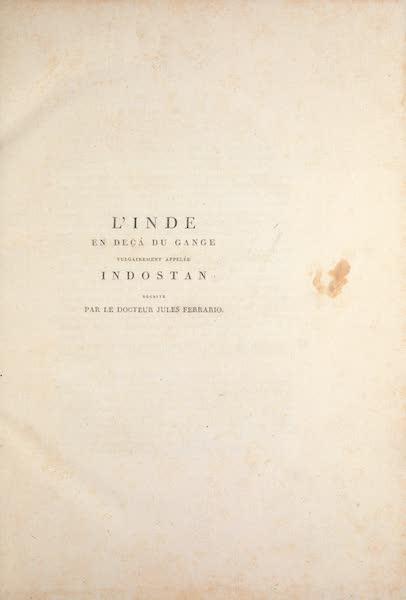 Le Costume Ancien et Moderne [Asie] Vol. 2 - Title Page (1817)