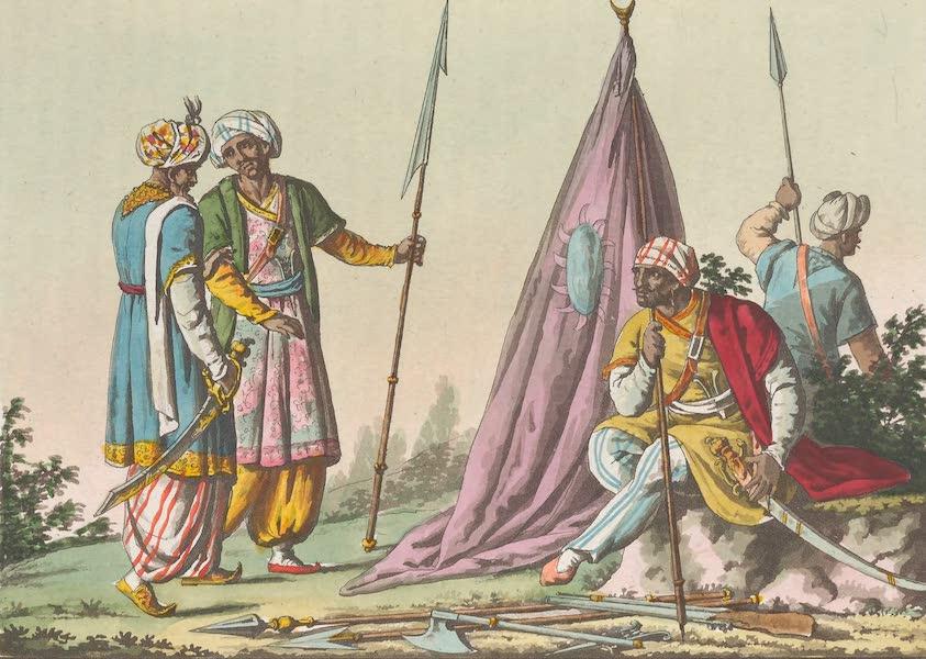 Le Costume Ancien et Moderne [Asie] Vol. 2 - Armes des troupes Mogolles (1817)