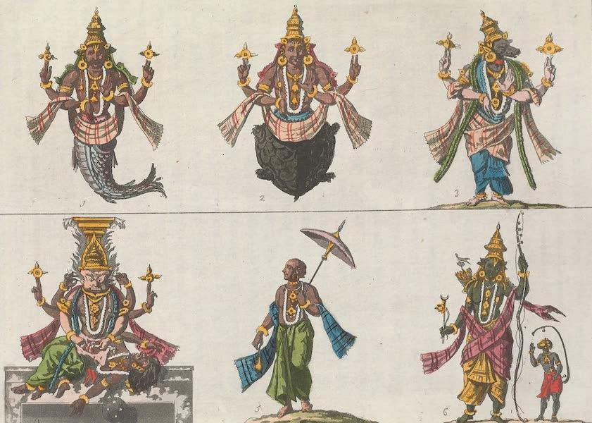 Le Costume Ancien et Moderne [Asie] Vol. 2 - Trimourti, Brama, Chiva, Visnou, etc (1817)