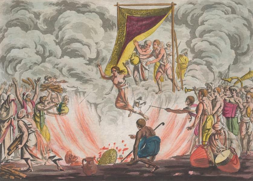 Le Costume Ancien et Moderne [Asie] Vol. 2 - Indienne qui se brule avec le corps de son mari (1817)