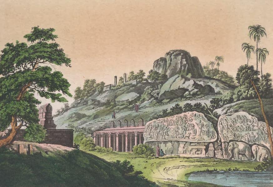 Le Costume Ancien et Moderne [Asie] Vol. 2 - Bas-relief qui sert d'ornement a l'espece de vestibule du temple souterrain de Mavalipouram (1817)