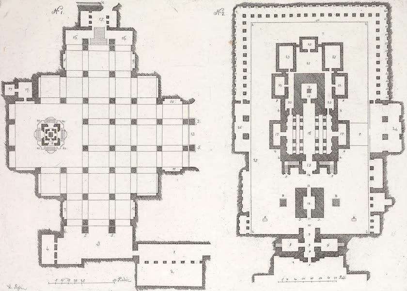 Le Costume Ancien et Moderne [Asie] Vol. 2 - Plan des Grottes de Doumur Leyna etc (1817)
