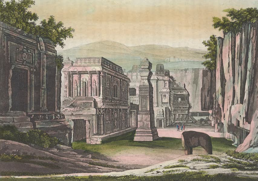 Le Costume Ancien et Moderne [Asie] Vol. 2 - Vues nord-est et sud-est du Kailassa [II] (1817)