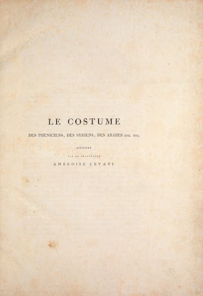 Le Costume Ancien et Moderne [Asie] Vol. 3 - Title Page (1817)