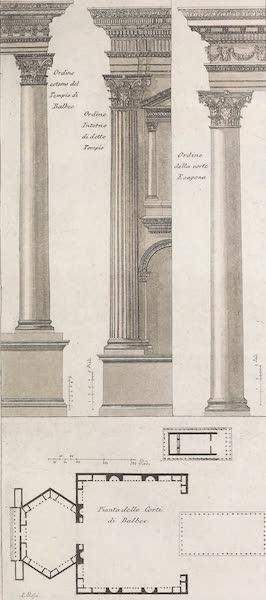 Le Costume Ancien et Moderne [Asie] Vol. 3 - Plan du temple d'Heliopolis ou de Balbec (1817)