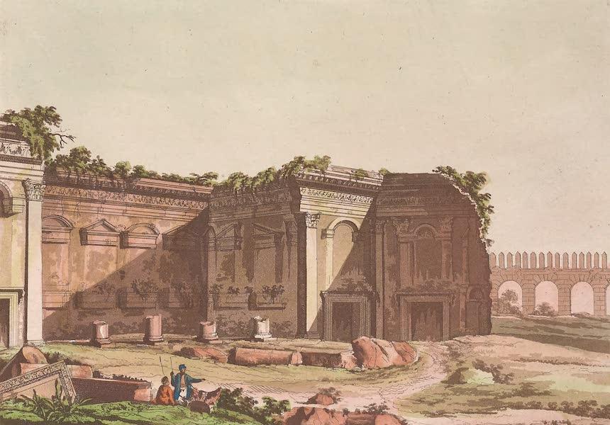 Le Costume Ancien et Moderne [Asie] Vol. 3 - Cour hexagone dans l'etat de ruine ou elle se trouve a present du cote du portique (1817)