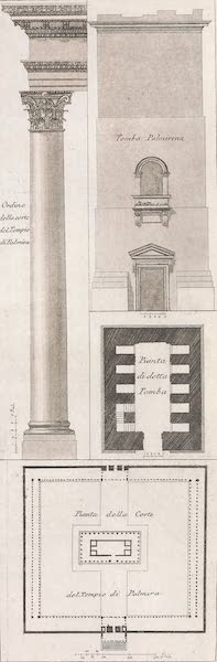 Le Costume Ancien et Moderne [Asie] Vol. 3 - Plan de la cour et du temple de Palmyre (1817)