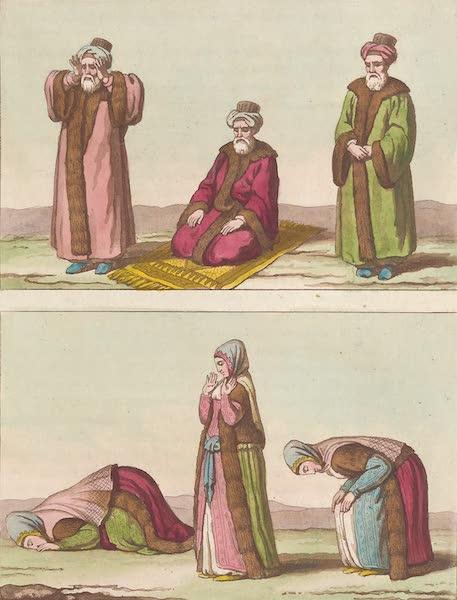 Le Costume Ancien et Moderne [Asie] Vol. 3 - Arabes hommes et femmes qui prient (1817)