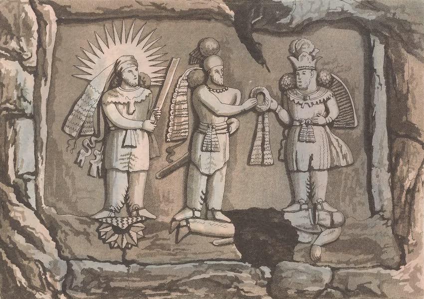 Le Costume Ancien et Moderne [Asie] Vol. 3 - Sculpture qui represente Sapor Zulactaf etc (1817)