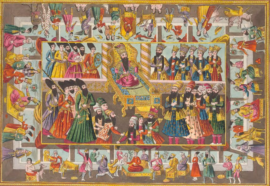Le Costume Ancien et Moderne [Asie] Vol. 3 - Reinture d'une boite Persanne de S.A.S le Prince de Metternich (1817)