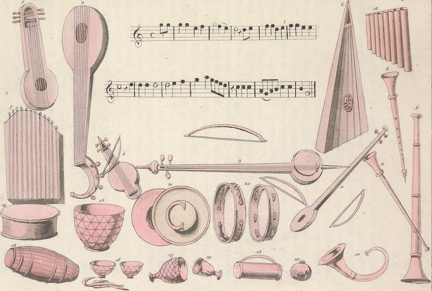 Le Costume Ancien et Moderne [Asie] Vol. 3 - Instrumens de musique (1817)