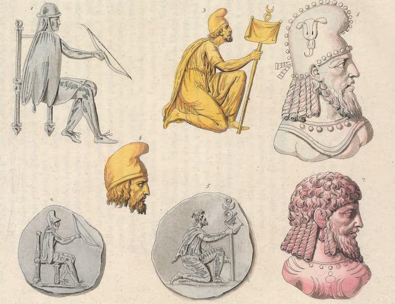 Le Costume Ancien et Moderne [Asie] Vol. 3 - Habillement des Perses sous les Arsacides et les Sassanides (1817)