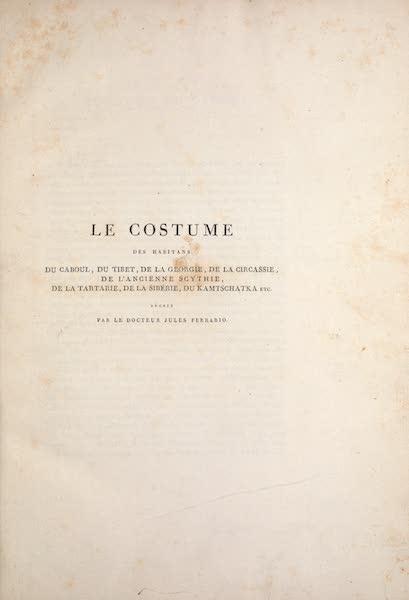 Le Costume Ancien et Moderne [Asie] Vol. 4 - Title Page (1818)