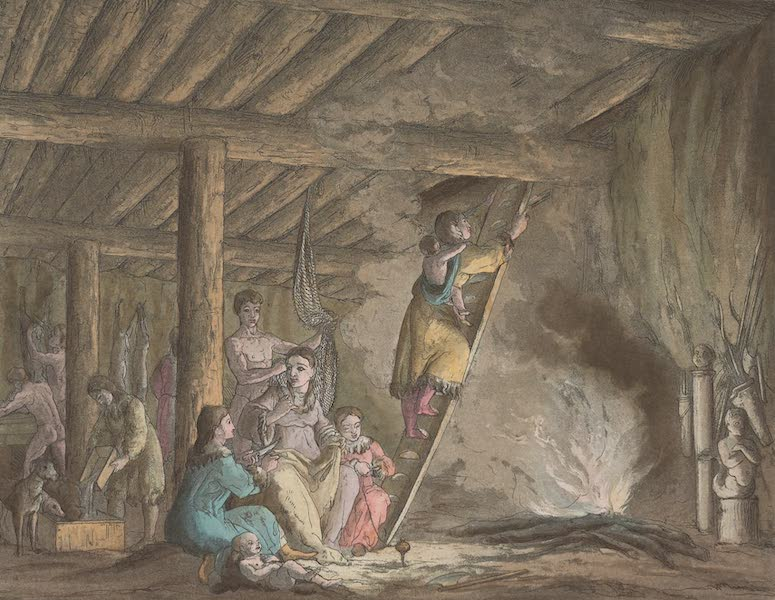 Le Costume Ancien et Moderne [Asie] Vol. 4 - Iurta ou habitation des Kamtschadales (1818)