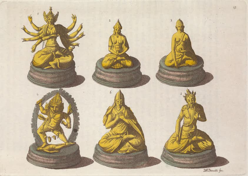 Le Costume Ancien et Moderne [Asie] Vol. 4 - Divinites des Calmouks (1818)