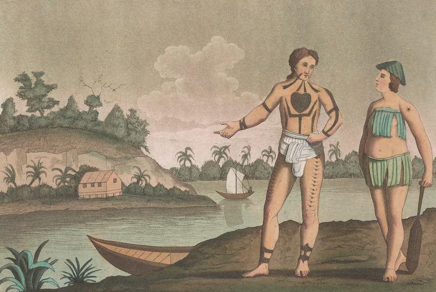 Le Costume Ancien et Moderne [Asie] Vol. 4 - Habillement des habitans des iles Pogghy (1818)