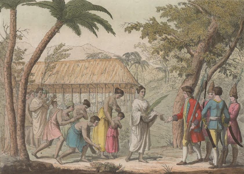 Le Costume Ancien et Moderne [Asie] Vol. 4 - Reception faite par la Reine Oberea au Capitaine Wallis (1818)