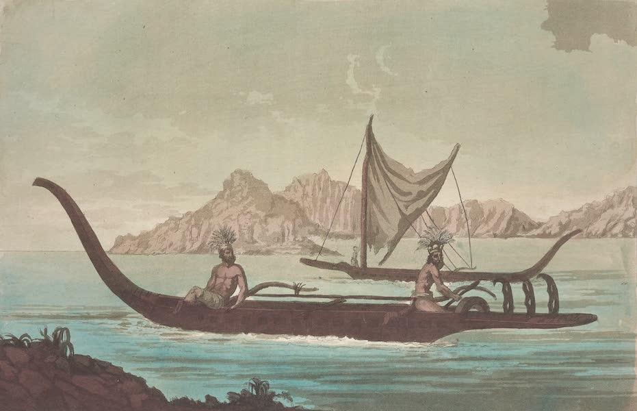 Le Costume Ancien et Moderne [Asie] Vol. 4 - Pirogues dans la baie de la Resolution (1818)