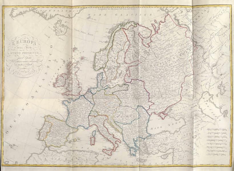 Le Costume Ancien et Moderne [Europe] Vol. 1, Pt. 1 - I. Carte generale de l'Europe (1817)